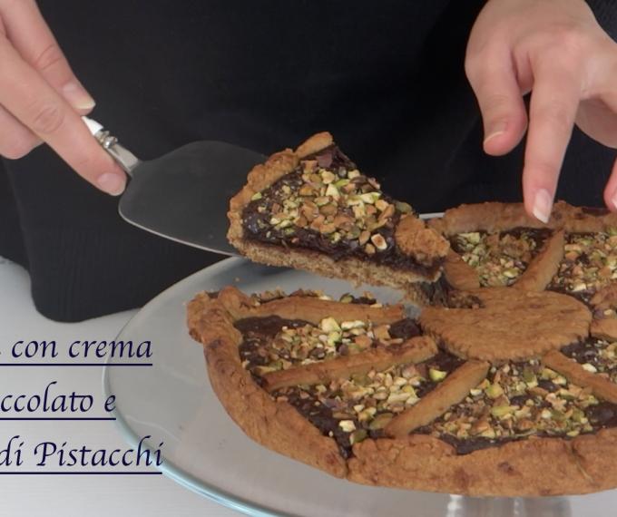 Crostata con Cioccolato e Pistacchi