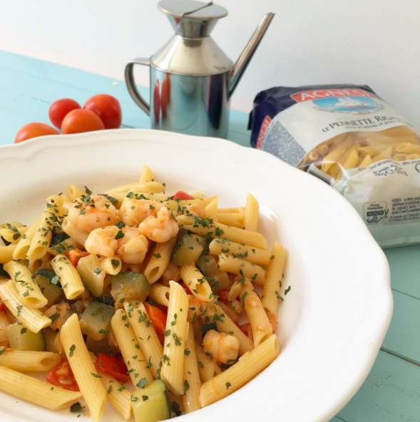 Pennette Gamberetti e Zucchine