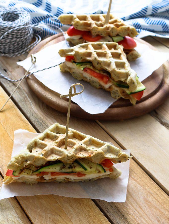 Tramezzini di Waffle Salati