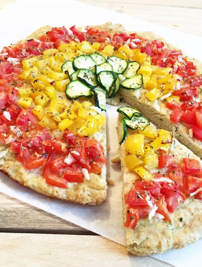 Pizza Arcobaleno senza lievitazione