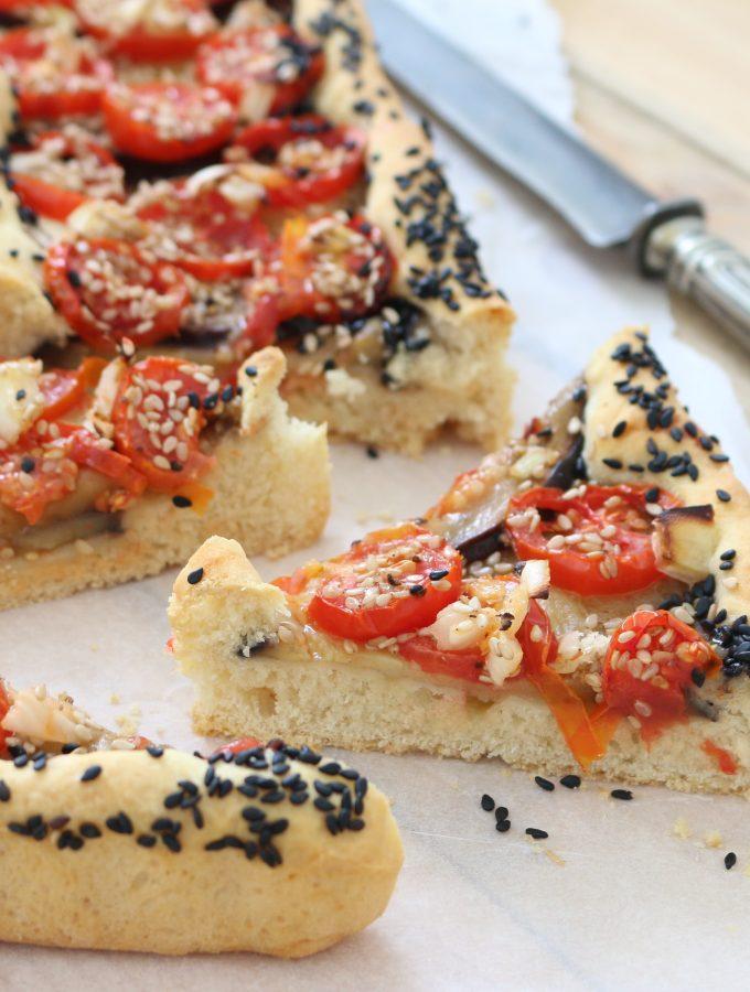 Crostata salata Melanzane e Pomodorini