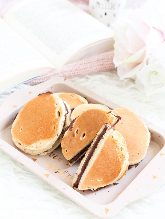 Dorayaki con crema di nocciole